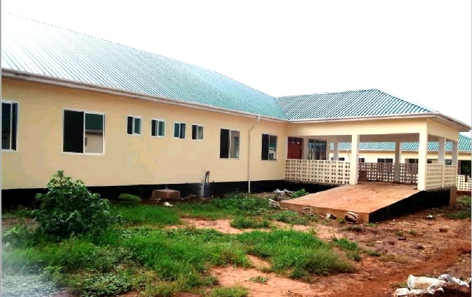 Construction of Simanjiro district hospital after 7 years of a constant follow up